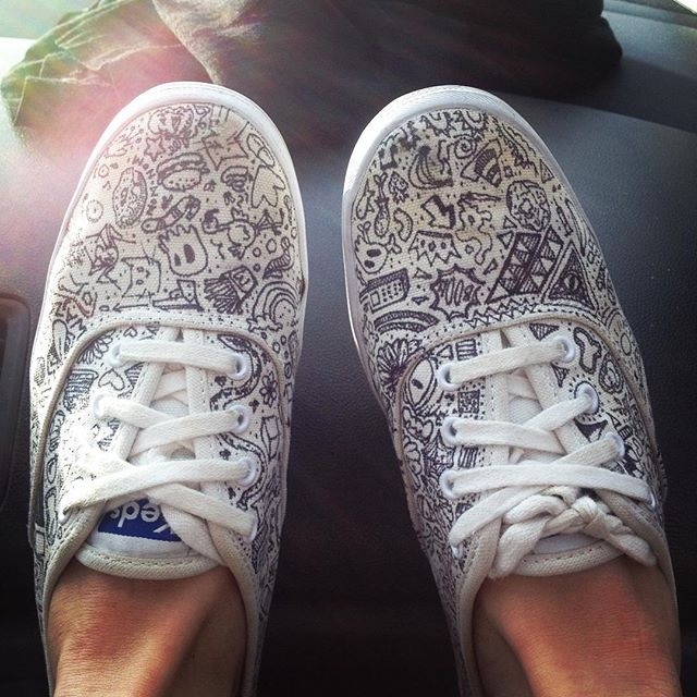 When your white shoes aren't white anymore #doodleshoes #salvage #diy